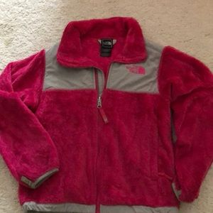 Pink girls North Face jacket